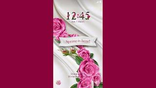 Galaxy Theme - Spring Roses Animated Lockscreen screenshot 5