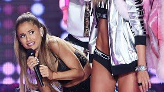 Repeat youtube video Ariana Grande Golpeada en el Desfile de Victoria's Secret