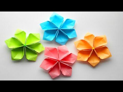 Цветы оригами простое