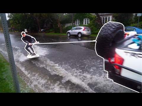 Thumbnail: SURFING THE STREETS OF LOS ANGELES (FLOOD)