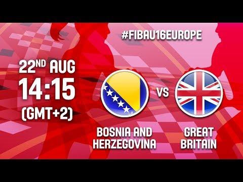 Bosnia & Herzegovina v Great Britain - Full Game - FIBA U16 Women's European Champ. 2017 - DIV B