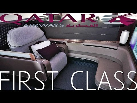 Qatar Airways first class pagsusuri doha sa paris