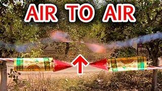 ROCKET VS ROCKET   DIWALI ROCKET ATTACK IN AIR   AIR TO AIR MISSILE  