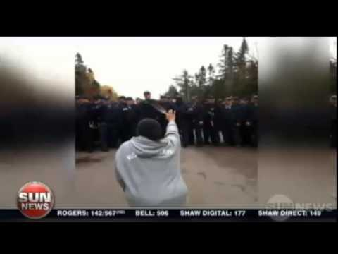Sun News - 40 natives arrested in violent anti-fracking protest in New Brunswick