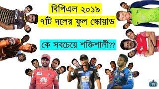 BPL 2019 | All 7 Teams Full Squad & Player List 2018-2019 | Dhaka Chittagong Comilla Rangpur Sylhet