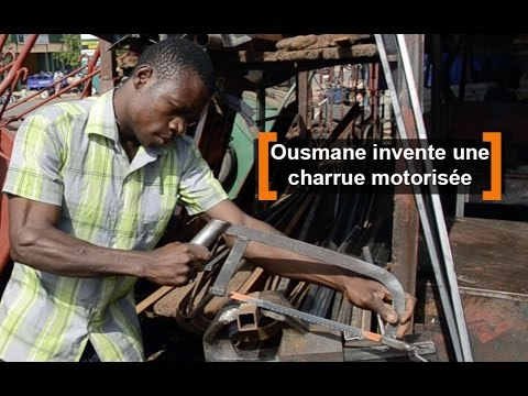 Burkina Faso : Ousmane invente une charrue motorisée
