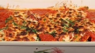 Spinach & Cheese Manicotti With Tomato Sauce : Italian Cuisine