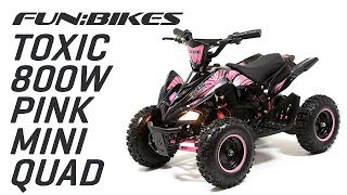 Product Overview: FunBikes Toxic 800w Black Pink Kids Electric Mini Quad Bike