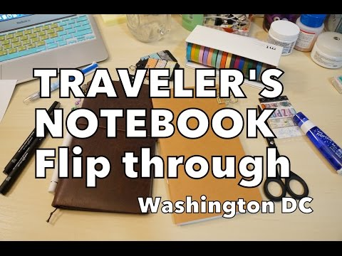 Traveler's Notebook Flip Through - Washington DC