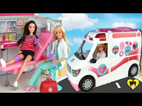 Barbie Ambulancia y Hospital de Juguete Para Muñecas