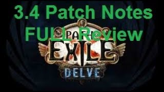 [Path of Exile] Going through 3.4 Patch Notes