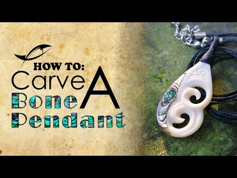 Tutorial Bone Carving How To Carve A Bone Pendant With Abalone Inlay Youtube