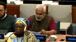 Mr. Tom Thomas - Praxis Institute for Participatory Practices - May UN Post-2015 negotiations