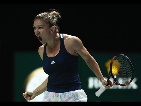 Simona Halep vs Madison Keys | 2016 WTA Finals Singapore Highlights