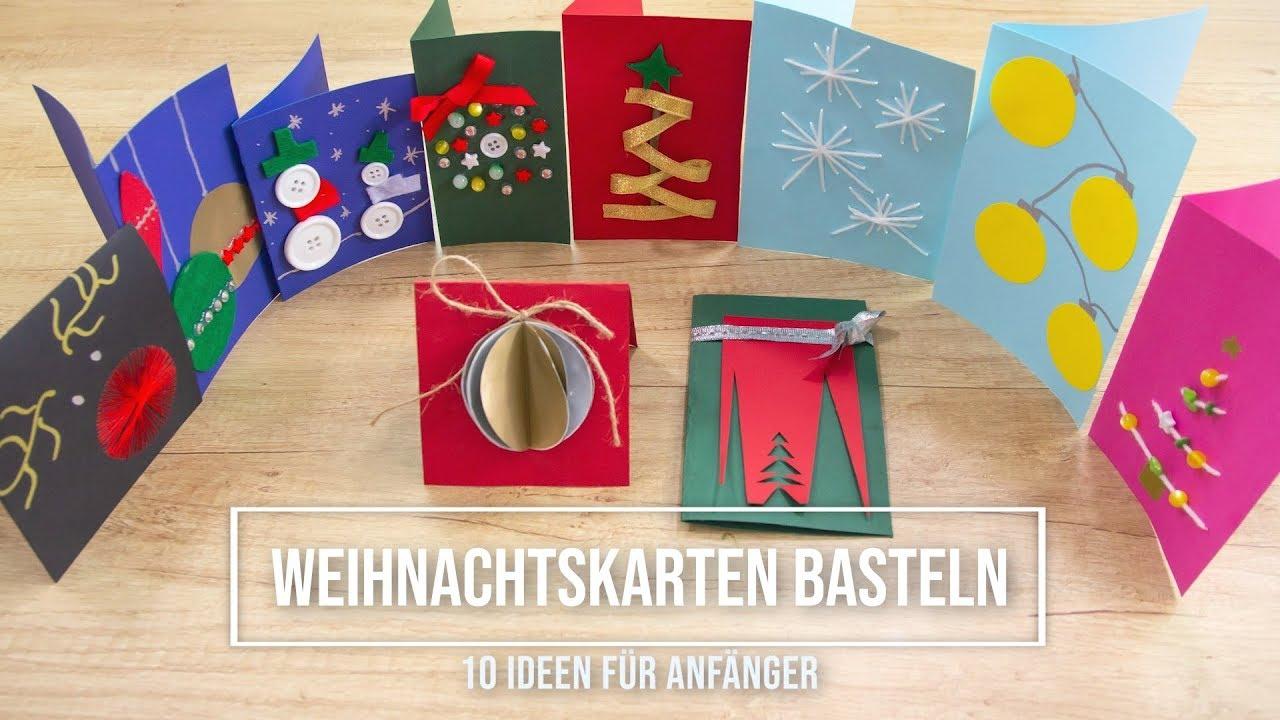 Originelle weihnachtskarten selber basteln 10 einfache anleitungen youtube - Originelle weihnachtskarten ...