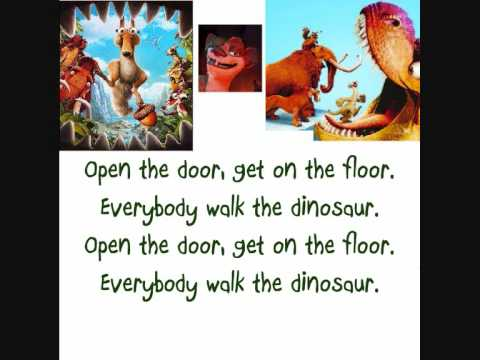 Walk The Dinosaur  Ice Age 3 LYRICS on screen