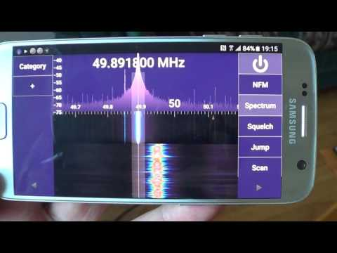 Turn you android tablet or phone into a police  scanner with SDRtouch and RTL Dongle