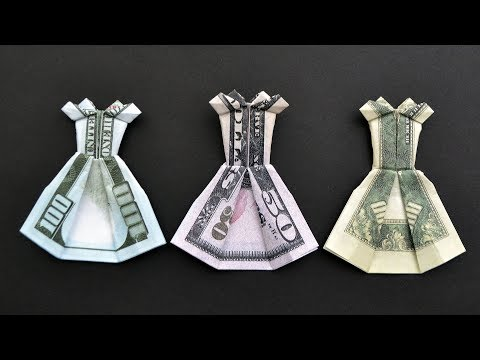 Money COCKTAIL DRESS | Origami Dollar Tutorial DIY (NProkuda)