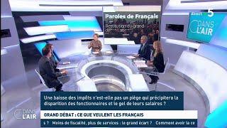 Grand débat : ce que veulent les Français - Les questions SMS #cdanslair 08.04.2019