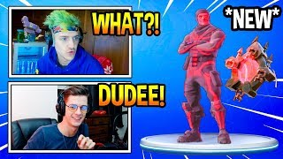"Streamers React To *NEW* RED ""SKULL TROOPER"" Skin! *INSANE* Fortnite EPIC & FUNNY Moments"