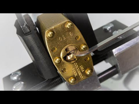 Commando Lock | Marine Series: Environment Premium Brass Padlock Picked!