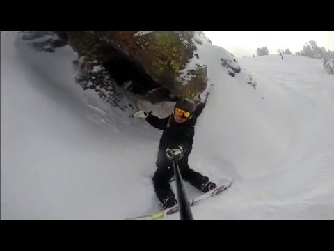 Funktion Family Go Pro Selfie Stick Snowboarding Test 2016