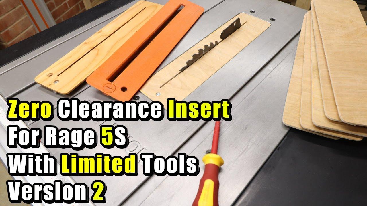 R255PTS Table Saw 45 degree Zero Tolerance Insert compatible Evolution Rage5-S