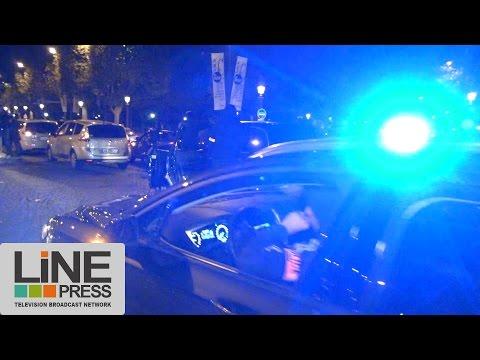 Manifestation non autorisée et spontanée de policiers / Paris - France 18 octobre 2016