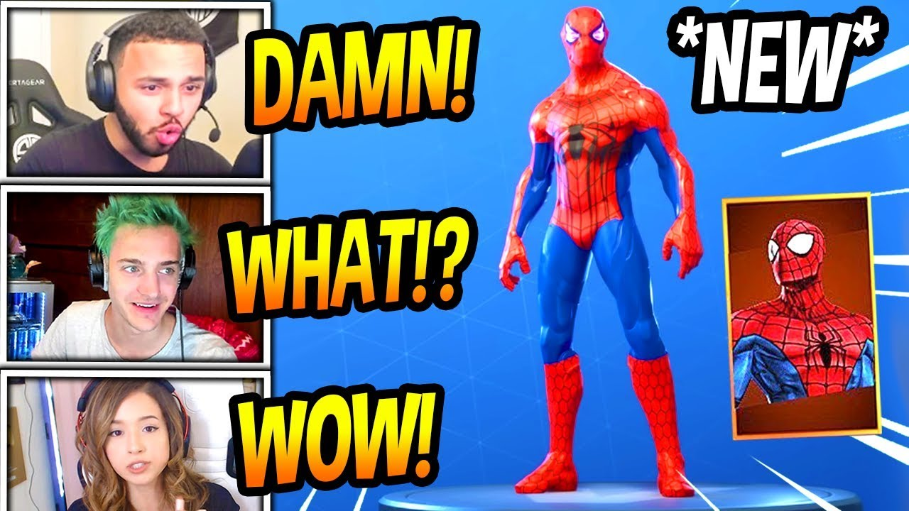 streamers-react-to-new-spiderman-skin-modded-fortnite-funny-savage-moments