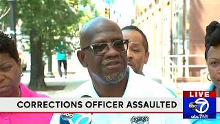 Briefing on assault of corrections officer in Brooklyn