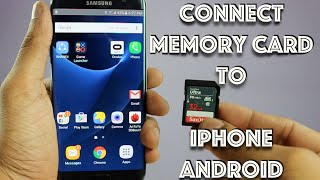 Connect Memory Card, USB Drive, SD Card to iPhone, Android, Post Photos on Instagram