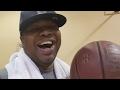 Karceno Shooting Hoops Laughing At Lebron