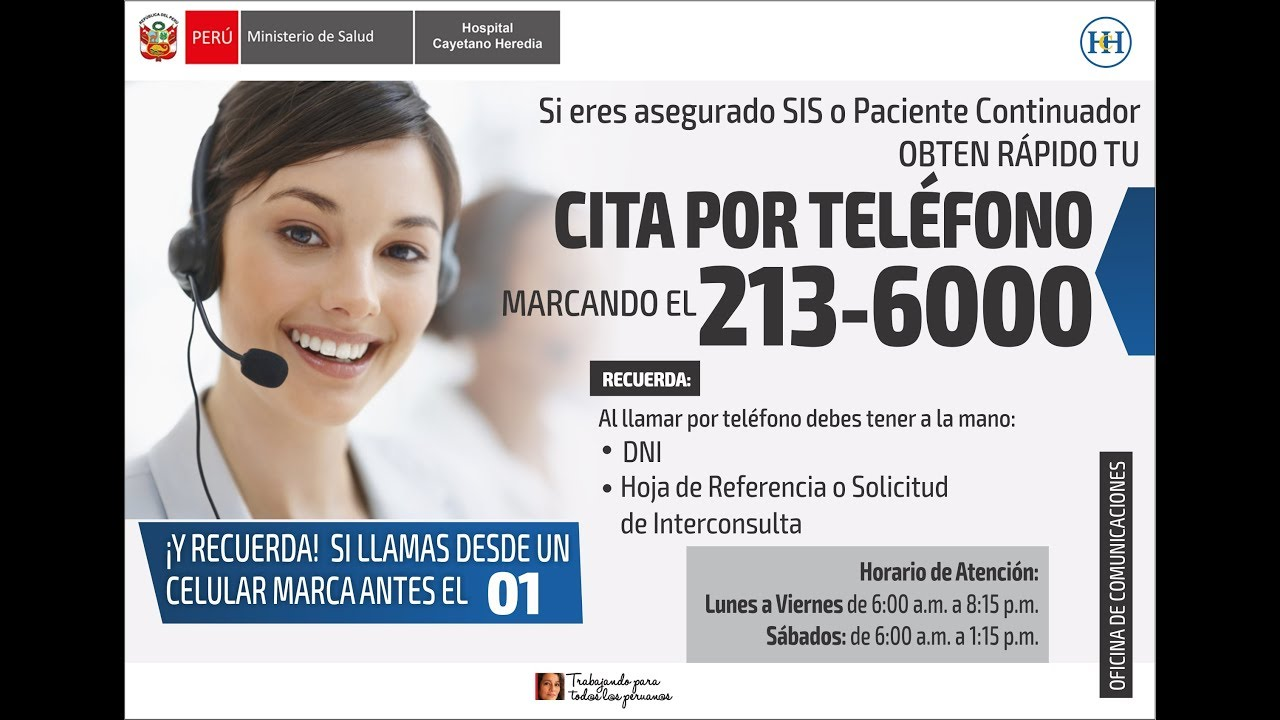 Citas online hospital cayetano heredia