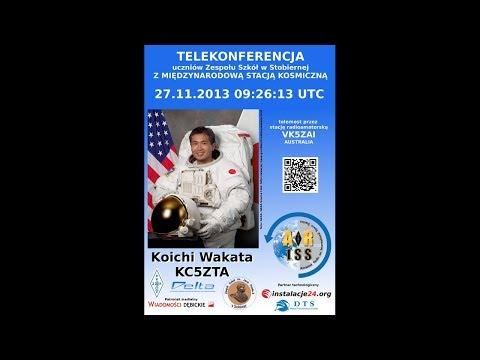ARISS Stobierna 27.11.2013 z Koichi Wakata KC5ZTA