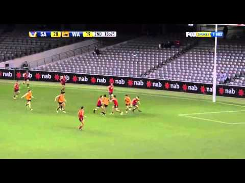 Chris Yarran Kicks a Goal
