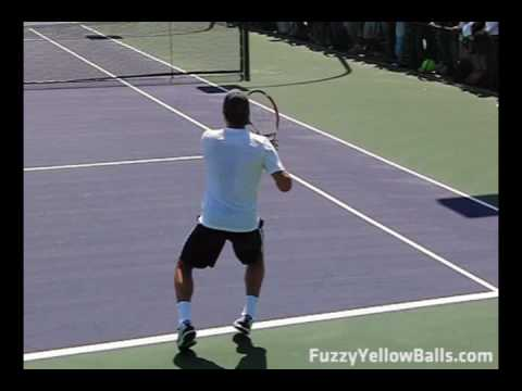 Roger Federer - Forehands from the Back Perspective
