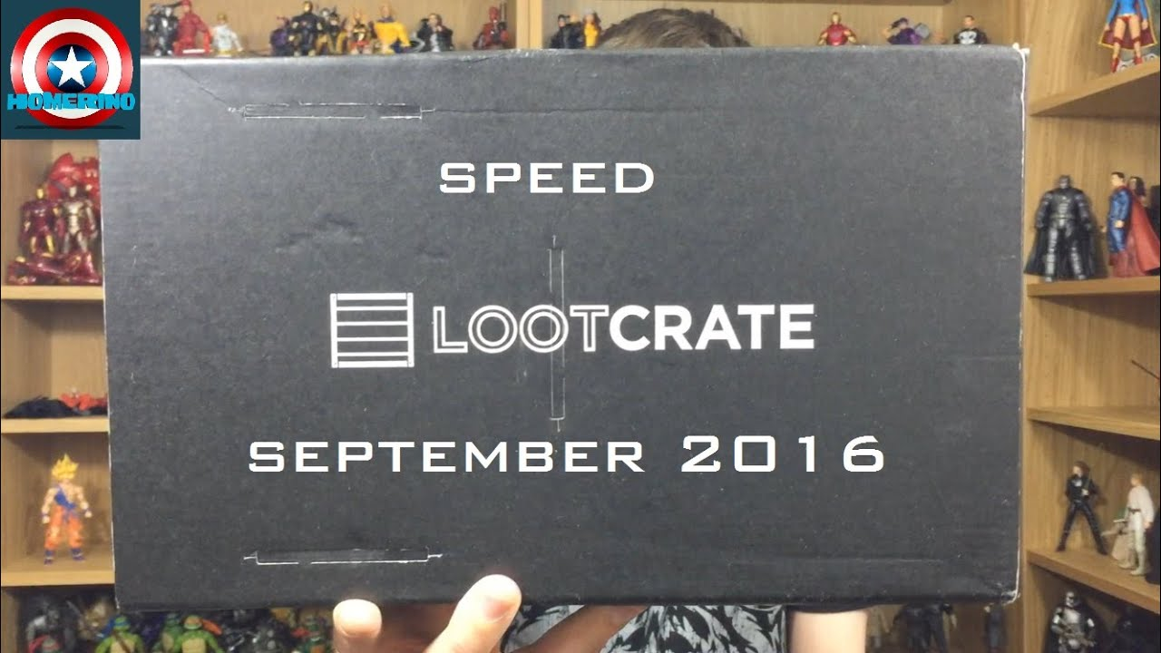 speed loot crate september 2016 youtube