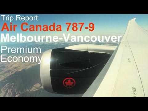 Air Canada Non-Stop Melbourne - Vancouver: Premium Economy 787-9 Dreamliner
