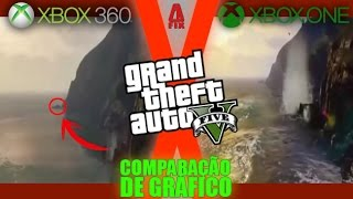 gta v xbox one x xbox 360 comparando