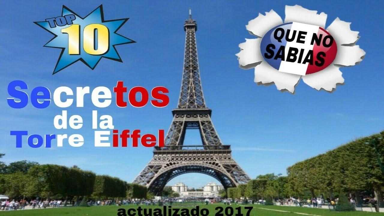 536a4d9ee250 TOP 10 Increíbles SECRETOS que esconde LA TORRE EIFFEL y que seguro NO  CONOCIAS