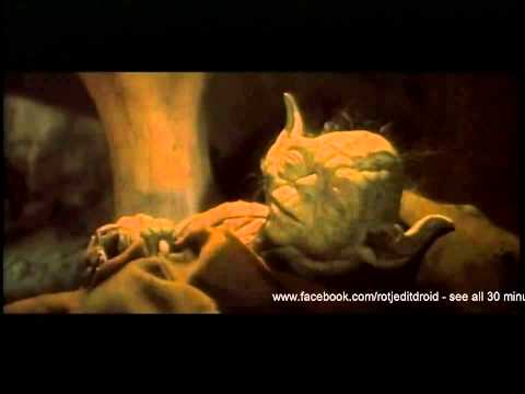 I can't believe I couldn't find it on this subreddit: Deleted Return of the Jedi scene where Yoda reveals that Obi-Wan wanted to tell Luke the truth about Anakin, but Yoda forbade him