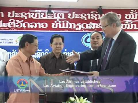 Lao NEWS on LNTV: Lao Airlines establishes Lao Aviation Engineering in Vientiane.13/3/2014