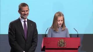 La Princesa De Asturias Lee El Artículo 1 De La Constitución