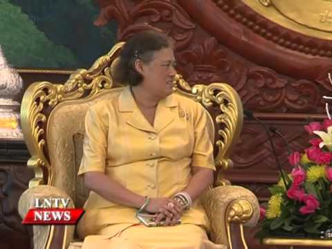 Lao NEWS on LNTV: Her Royal Highness Princess of Thailand visits Laos.9/12/2015
