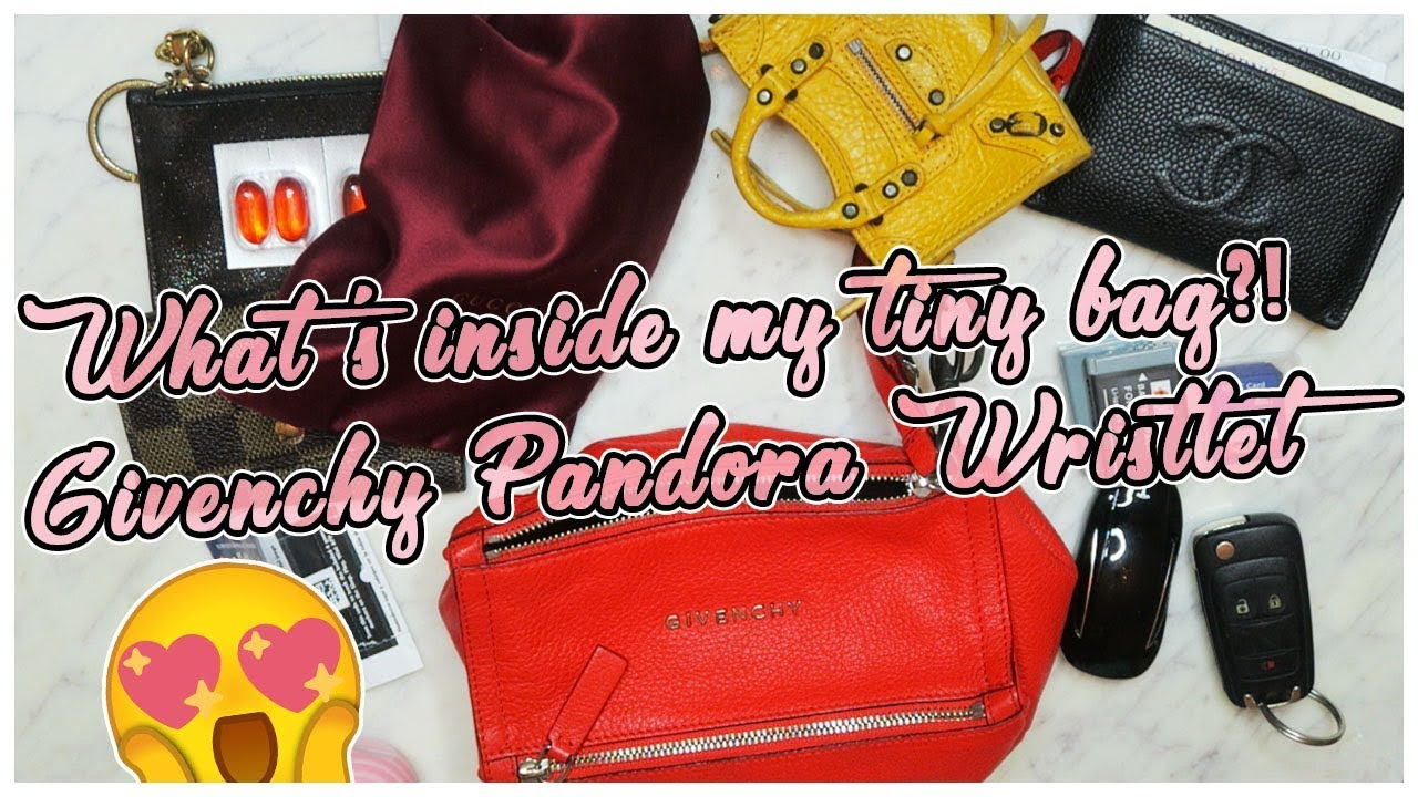 7d0178feed WHATS IN MY TINY BAG? GIVENCHY PANDORA WRISTLET - YouTube