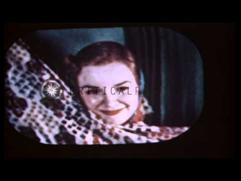 First color television broadcast using the CBS color method is photographed at th...HD Stock Footage