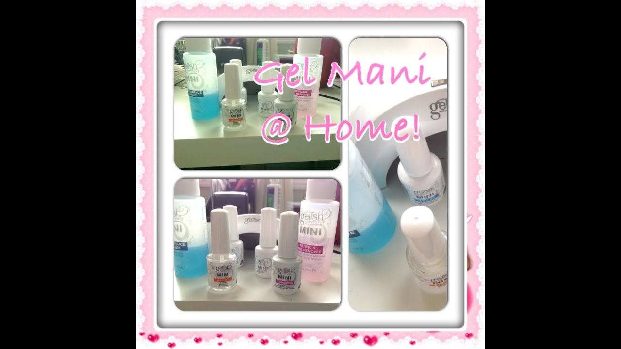 home Gel manicure & YOU Change the nail polish color whenever ...