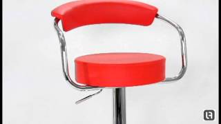 Zenith Red Bar Stool