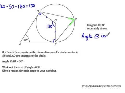 Circle Theorems Mathematics Revision Youtube