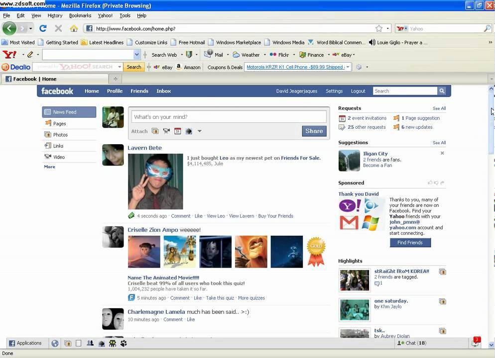 Face Book English